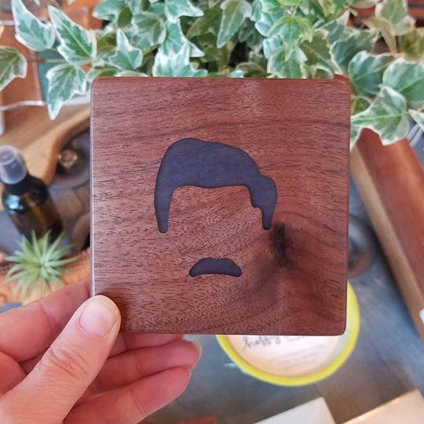 Ron Swanson Coaster with Bottle Opener