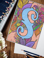 Petals Monogram Coloring Pages