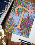 Regal Monogram Coloring Pages