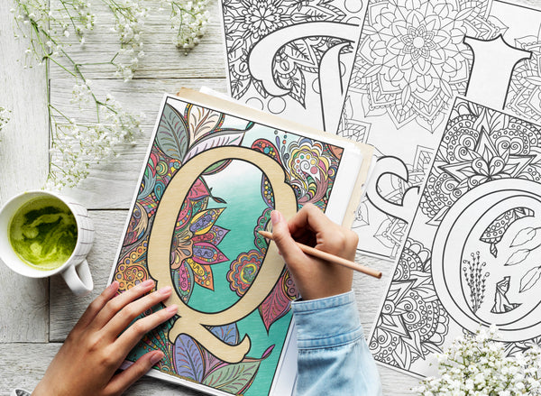 Monogram Coloring Pages Bundle