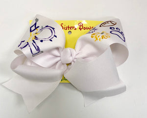 Hand Painted Marching Band X-Large Bow