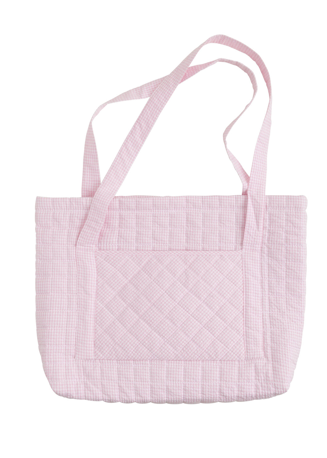 LE Pink Quilted Tote Bag