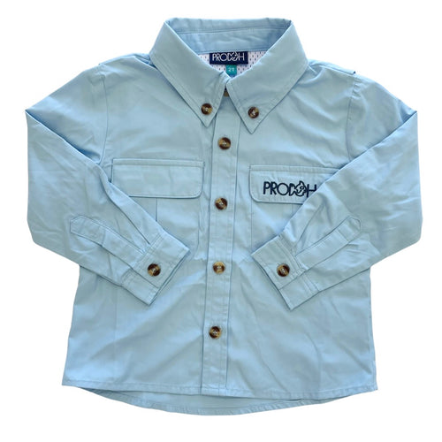 Vented Back Shirt Arctic Blue