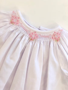 Smocked Day Gown- White