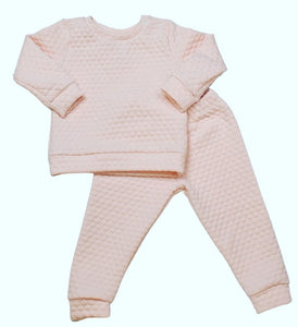 Light Pink Quilted Sweatsuit