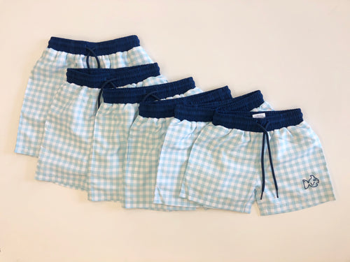 Gingham Swim Trunk