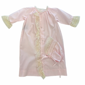 Pink Faith Daygown w/Bonnet