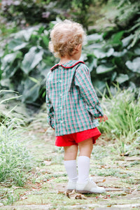 Ward Short Set Red Plaid