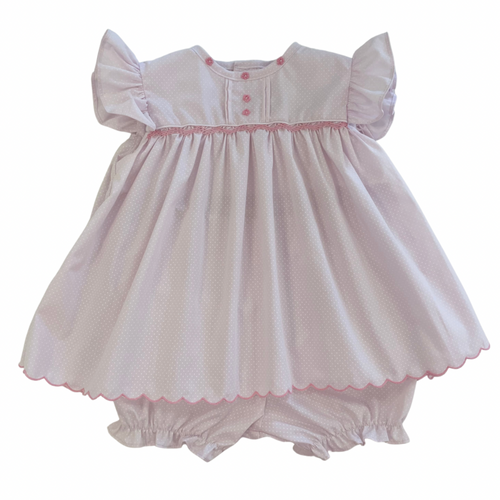 Pink Bitty Dot Bloomer Set