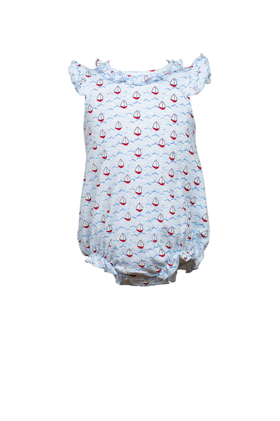 Bitty Ruffle Bubble Nautical