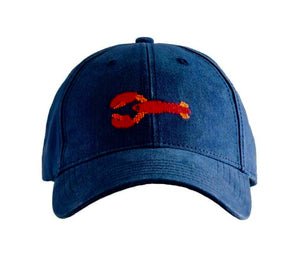 Lobster Needlepoint Hat on Navy