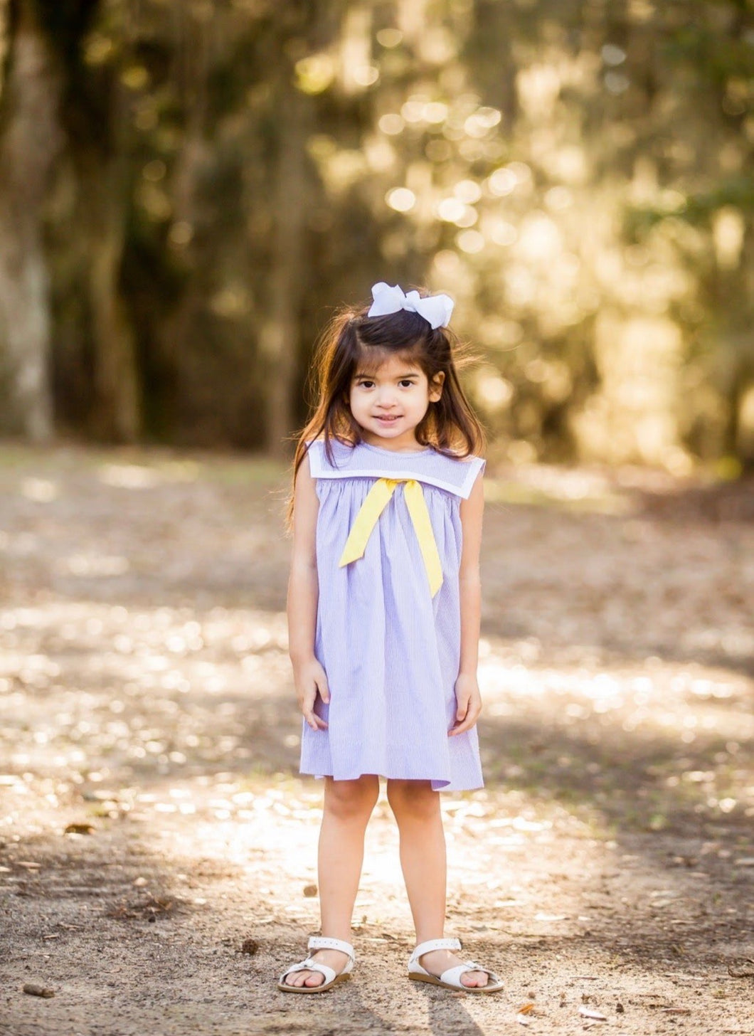 Game Day Sailor Dress- Purple & Gold