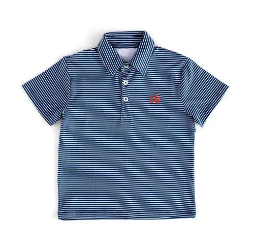 Performance Polo Navy Stripe/Red