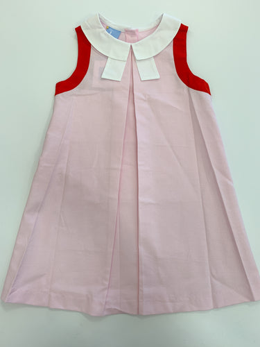 Ambrose Bow Dress Pink/Red
