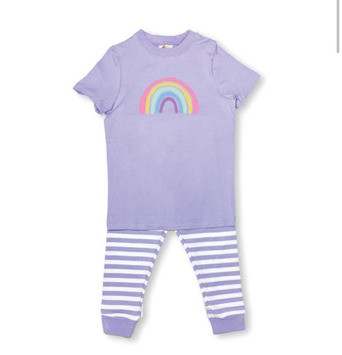 Rainbow Short Sleeve Pajamas