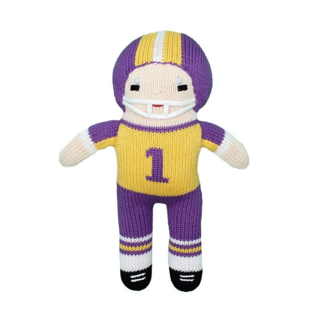 Football Player Doll Purple/Gold 12