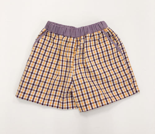 LSU Plaid Shorts
