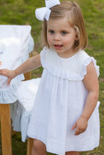 Load image into Gallery viewer, Charming Dress White Swiss Dot w/ Bloomer