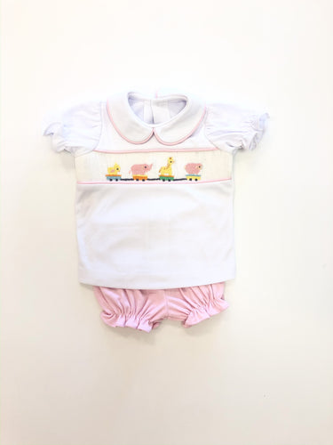 Pink Leah Bloomer Set
