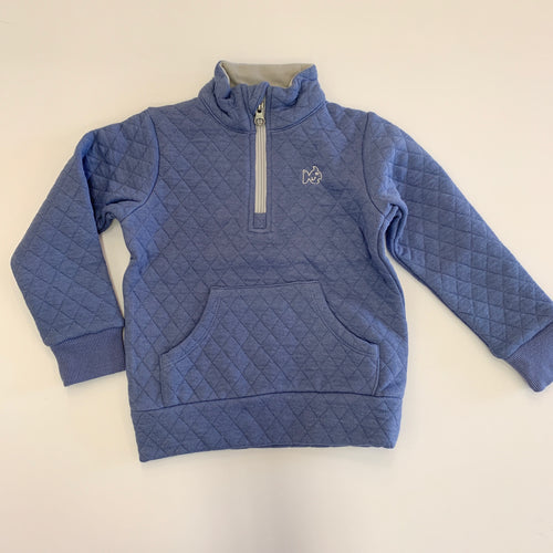 Prodoh Quilted Half Zip Pull Over Blue