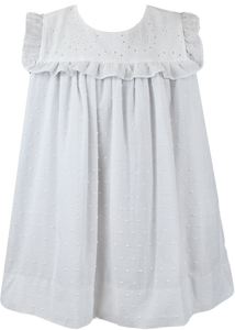 Charming Dress White Swiss Dot w/ Bloomer