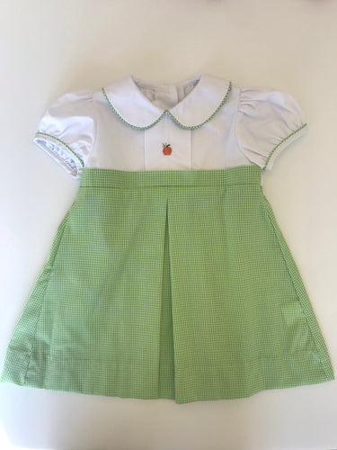 Green Check Pumpkin Dress