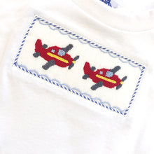 Load image into Gallery viewer, Airplane Smocked LS Tee