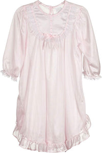 Pink Silk Night Gown