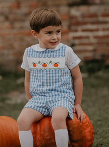 Pumpkin Smocked Shortall
