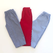 Load image into Gallery viewer, Red Cord Pull on Pant w/pockets