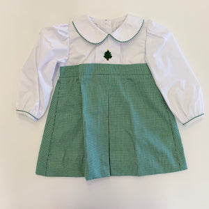 Girl Christmas Pine Dress