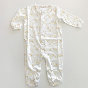 Printed Footie- Baby Duck