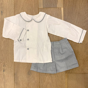 Gray Cord Short Set