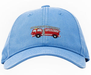 Firetruck on Light Blue Baseball Hat
