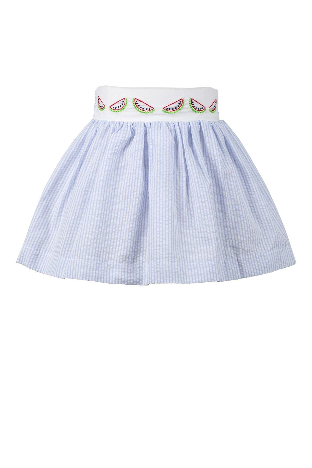 Watermelon Seersucker Skirt