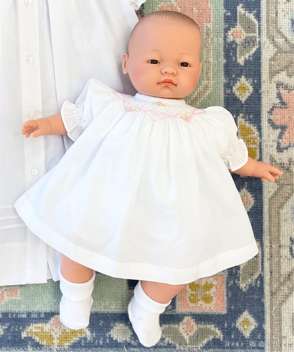 Baby Doll w/ Smocked Bloomer Set