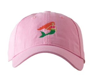 Mermaid on Light Pink Baseball Hat