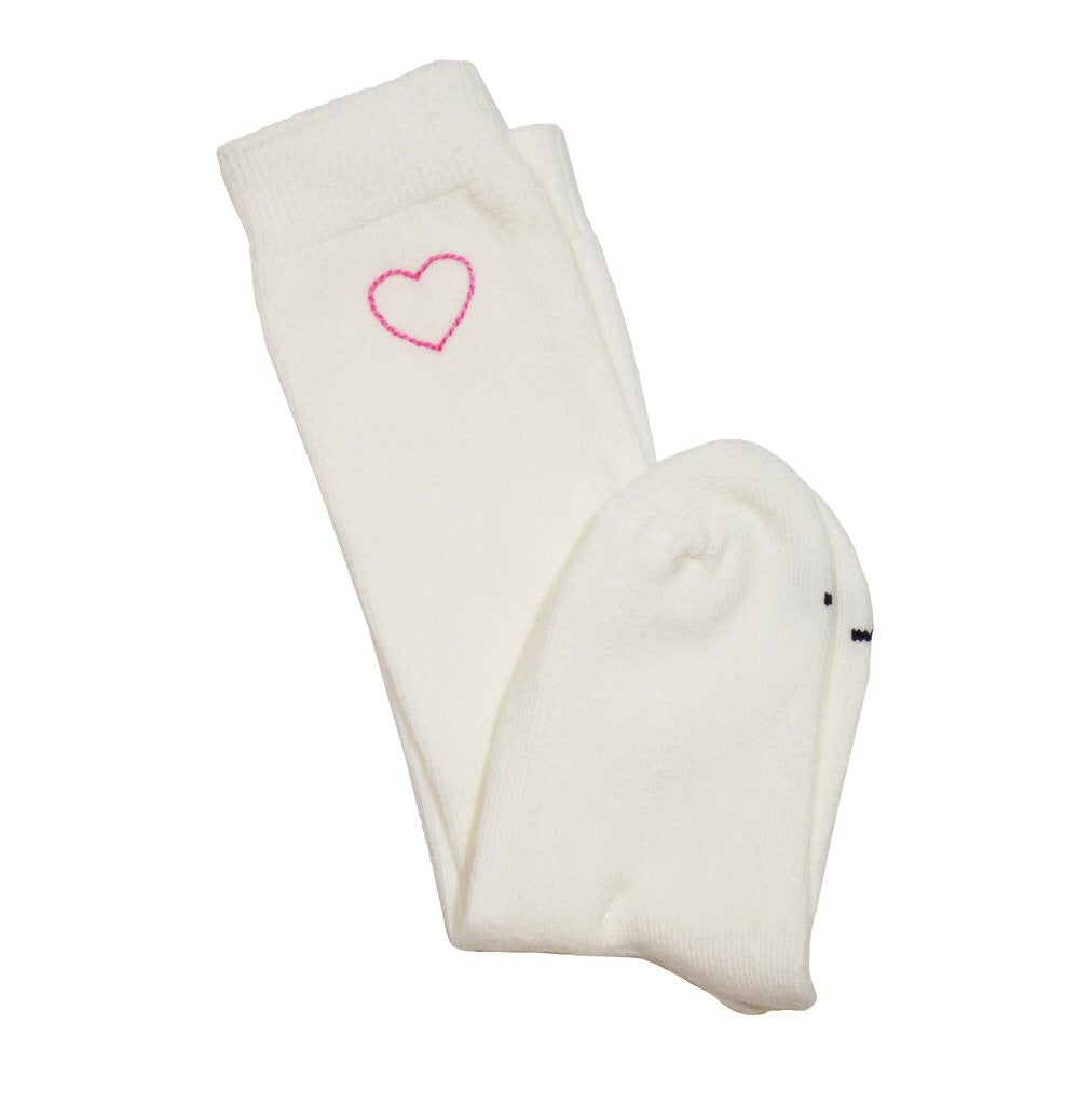 Embroidered Heart Sock