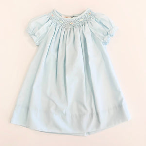 Smocked Day Gown -  Blue