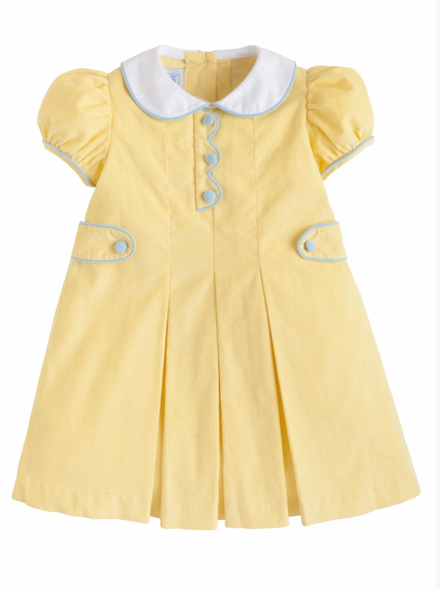 Lucy Dress Yellow Cord