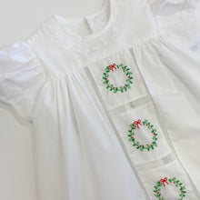 Load image into Gallery viewer, Christmas Wreath Heirloom Dress