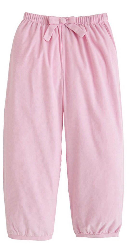 Banded Light Pink Bow Pants