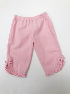 Pink Check Ruffle Pants