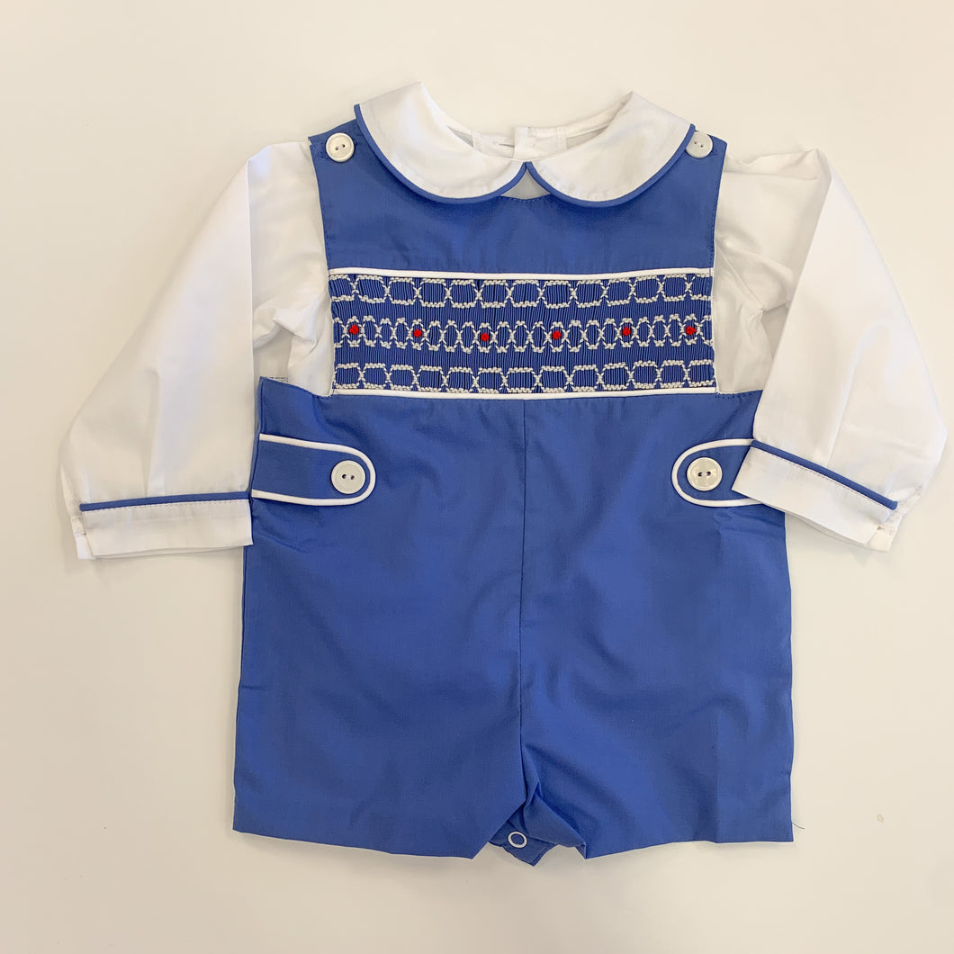 Snow Smocked Shortall