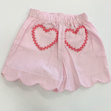 Load image into Gallery viewer, Pink Scallop Heart Pocket Short