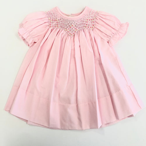 Pink Bishop Smocked Day Gown