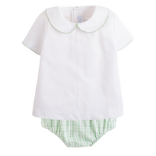 Load image into Gallery viewer, Green Plaid Diaper Set