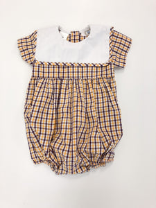 Plaid Boy Bubble with Bib