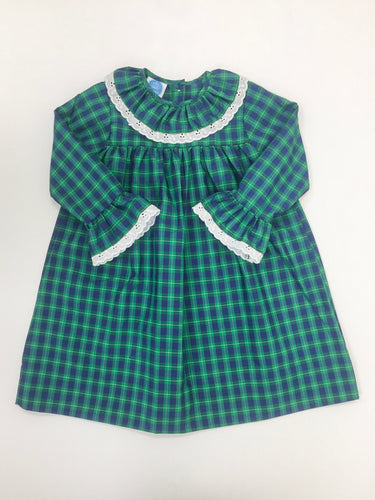Green and Navy Plaid Dress