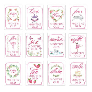 Pink Month by Month Cards
